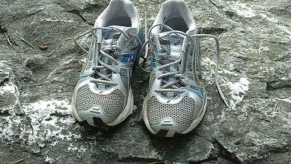 A photo of running shoes from 2005.
