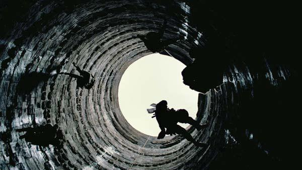 An image from the 2012 film, 'The Dark Knight Rises,' directed by Christopher Nolan.