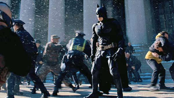 Christian Bale in an image from the 2012 film, 'The Dark Knight Rises,' directed by Christopher Nolan.