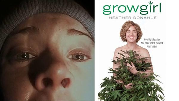Heather Donahue appears on the cover of her 2012 book Growgirl, published by Gotham. / Heather Donahue appears in a scene from the 1999 film The Blair Witch Project. - Provided courtesy of Gotham / Haxan Films