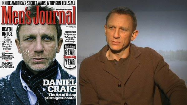 Daniel Craig appears on the cover of Mens Journals January 2012 issue. / Daniel Craig talks about his character in The Girl With the Dragon Tattoo and working with David Fincher in an interview provided by Columbia Pictures in December 2011. - Provided courtesy of Mens Journal / Columbia Pictures