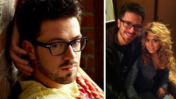 Danny Gokey appears in a promotional photo posted on his Facebook page in November 2011. / Danny Gokey and Leyicet Peralta are seen in a photograph posted on the sophiasheart.org, the website of the charity that honors his late wife, on Dec. 25, 2011.