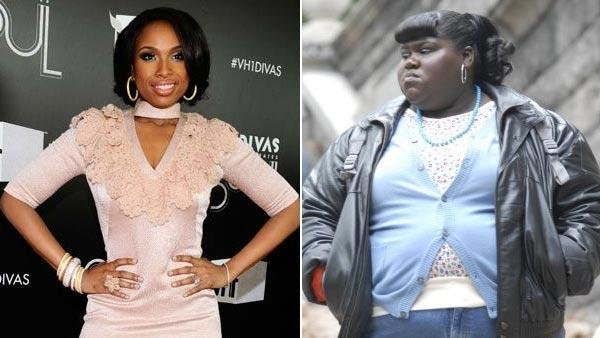 Jennifer Hudson arrives at Vh1 Divas Celebrates Soul on Sunday, Dec. 18, 2011 in New York.  / Gabourey Sidibe appears in a scene from the 2009 film Precious. - Provided courtesy of AP Photo/Charles Sykes / Lionsgate