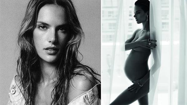 Alessandra Ambrosio shares this photo of her pregnant figure on Facebook on April 22, 2012. The picture was taken a Vivara jewelry ad  by Mert Marcus.