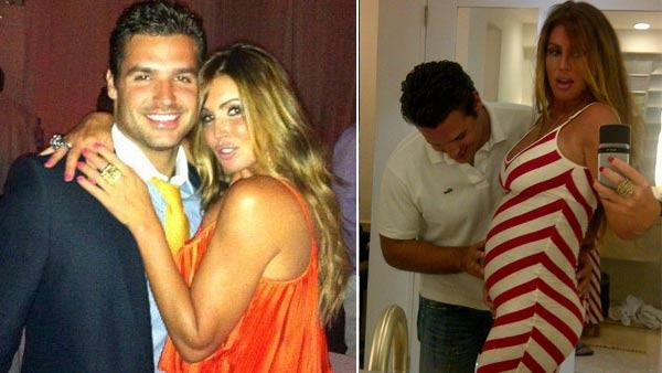Rachel Uchitel and Matt Hahn appear in a photo posted on Hahn's official Twitter account on June 26, 2011. / Rachel Uchitel and Matt Hahn appear in a photo posted on Uchitel's official Twitter account on December 27, 2011.