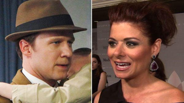 Will Chase appears in a still from ABCs Pan Am. / Debra Messing talks to OnTheRedCarpet.com in June 2010. - Provided courtesy of OTRC / ABC / Patrick Harbron / OTRC