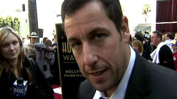 Adam Sandler receives his star on the Hollywood Walk of Fame on February 1, 2011.