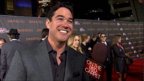 Dean Cain talks to OnTheRedCarpet.com at the premiere of 'Immortals' in Los Angeles on Nov. 7, 2011.