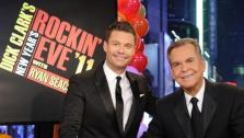 Dick Clark and Ryan Seacrest appear in a promotional photo for New Years Rockin Eve, whose 40th edition airs live on ABC on Dec. 31, 2011 at 8 p.m. ET. - Provided courtesy of ABC
