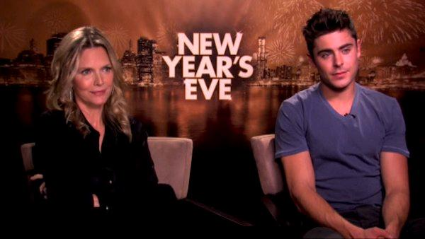 Zac Efron and Michelle Pfieffer talk to OnTheRedCarpet.com in a press junket for 'New Year's Eve.'