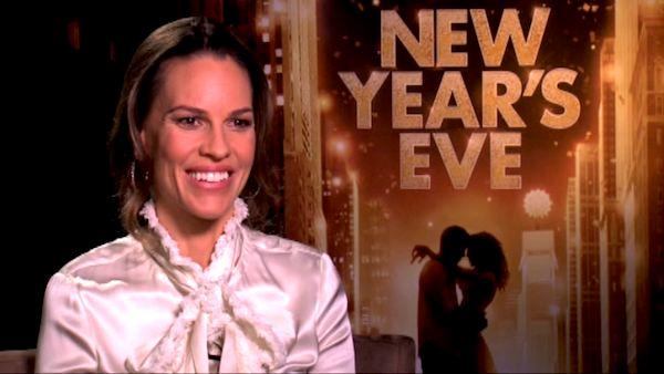 Hilary Swank talks to OnTheRedCarpet.com in a press junket for 'New Year's Eve.'