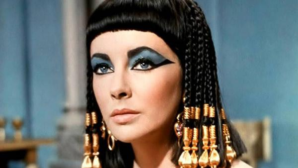 Elizabeth Taylor appears in a promotional image for 'Cleopatra' in 1963.