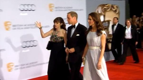 Prince William and Kate, the Duke and Duchess of Cambridge, arrive at the inaugural BAFTA Brits to Watch 2011 event at the Belasco Theater in Los Angeles, Saturday, July 9, 2011.