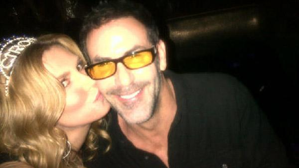 Brandi Glanville and Darin Harvey appear in a photo posted on Glanville's official Twitter page on December 31, 2011.