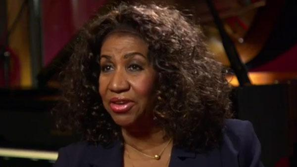 Aretha Franklin appears in an 'Access Hollywood' interview in March 2011.