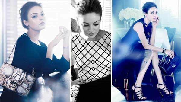 Mila Kunis appears in a photo for the Miss Dior handbag campaign. - Provided courtesy of Photo courtesy of Dior