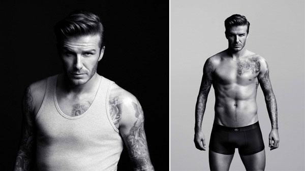 David Beckham models in a photo for his H&M bodywear collection in 2012. - Provided courtesy of H&M