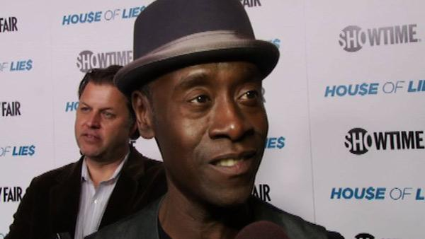 Don Cheadle talks to OnTheRedCarpet.com at the premiere of the Showtime series 'House of Lies' in Los Angeles on Jan. 4, 2012.