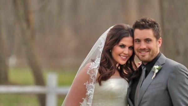 Singer Hillary Scott from Lady Antebellum and husband Chris Tyrrell appear in a scene from their wedding announcement video posted on January 8 on ladyantebellum.com. - Provided courtesy of LadyAntebellum.com