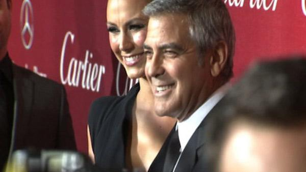 George Clooney, Stacy Keibler at Palm Springs