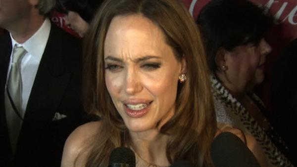 Angelina Jolie talks to OnTheRedCarpet.com at the Palm Springs International Film Festival on Jan. 7, 2012.