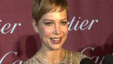 Michelle Williams, who appears in the 2011 film My Week With Marilyn, talks to OnTheRedCarpet.com at the Palm Springs International Film Festival on Jan. 7, 2012. - Provided courtesy of OTRC