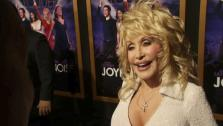 Dolly Parton talks to OnTheRedCarpet.coms George Pennochio at the January 9 premiere of his 2012 film Joyful Noise, which hits theaters January 13. - Provided courtesy of OTRC