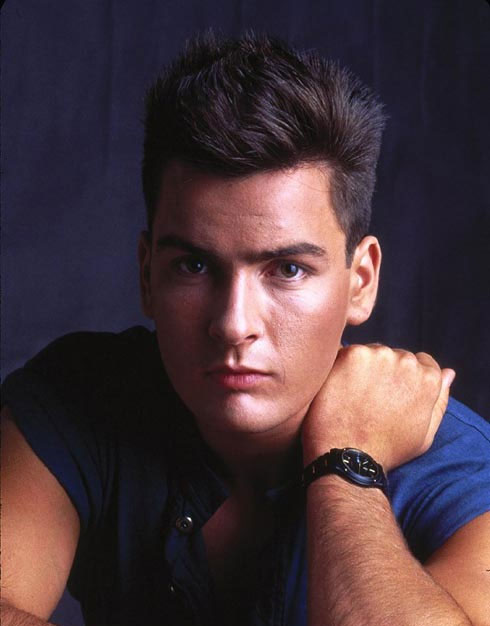 Charlie Sheen in a still from his 1984 movie,...