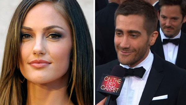 Actress Minka Kelly appears in a 2011 Associated Press file photo. / Actor Jake Gyllenhaal walks the red carpet before the 82nd Academy Awards. - Provided courtesy of AP/Dan Steinberg / OTRC