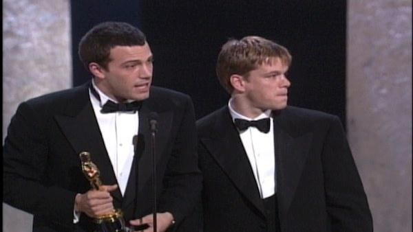 Matt Damon & Ben Affleck give playful speech