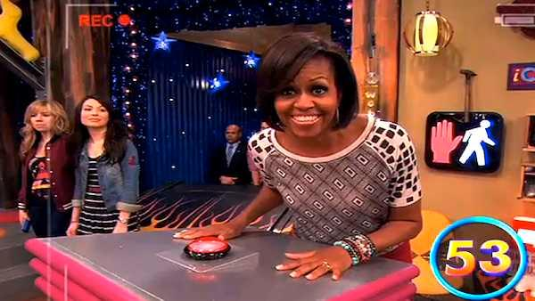 Michelle Obama visits Nickelodeon's 'iCarly'