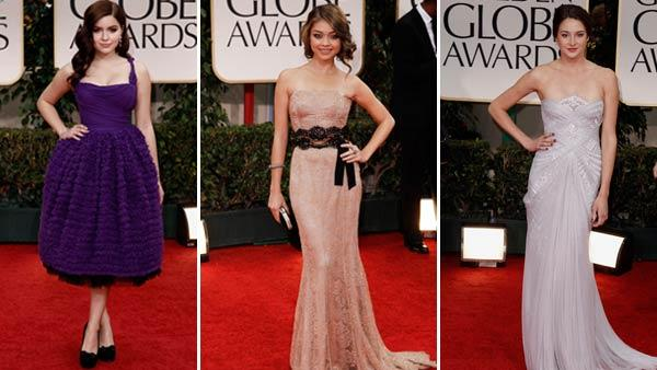 Ariel Winter, Sarah Hyland and Shailene Woodley appear at the 69th Annual Golden Globe Awards in Los Angeles on January 15. - Provided courtesy of AP