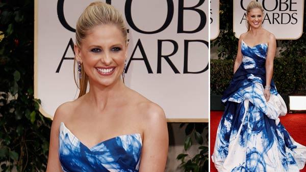 Sarah Michelle Gellar appears at the 69th Annual Golden Globe Awards in Los Angeles on January 15. - Provided courtesy of AP