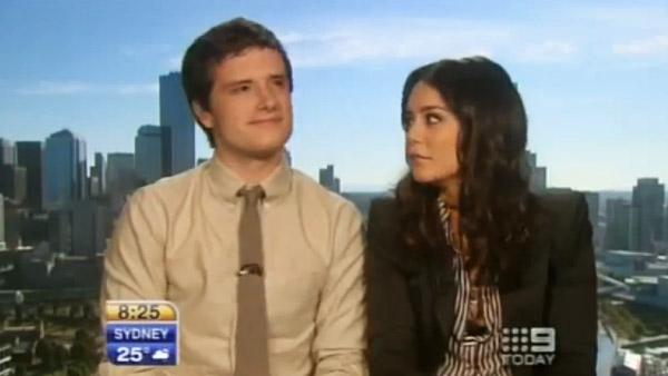 Vanessa Hudgens and Josh Hutcherson appear on Australias Today show. - Provided courtesy of Today show Australia
