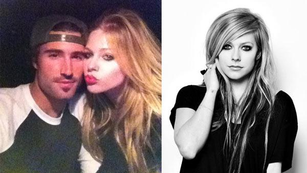 Brody Jenner appears in a photo with Avril Lavigne from his official Twitter page. /  Avril Lavigne appears in a photo posted on her official Facebook. - Provided courtesy of ABC / twitter.com/#!/BrodyJenner / facebook.com/avrillavigne