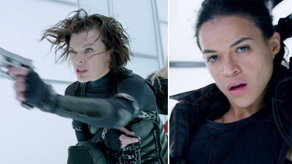 Michelle Rodriguez appears in a scene from the 2012 film Resident Evil: Retribution. / Milla Jovovich appears in a scene from the 2012 film Resident Evil: Retribution. - Provided courtesy of Screen Gems