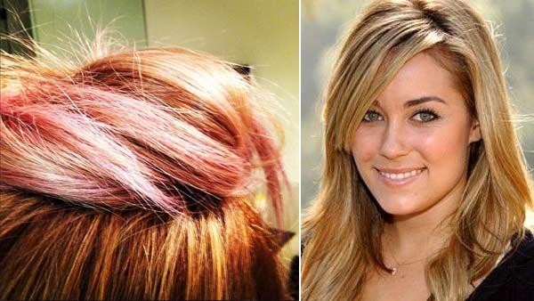 Lauren Conrad shows off her cotton candy hair on January 21, 2012 /Lauren Conrad in an undated photo from her official Facebook page. - Provided courtesy of Twitter.com/LaurenConrad / Facebook.com/LaurenConrad