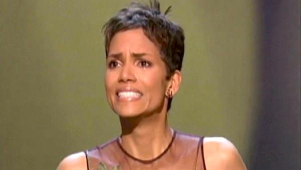 Halle Berry accepts a Best Actress Oscar for Monsters Ball in 2001. - Provided courtesy of Oscar.com