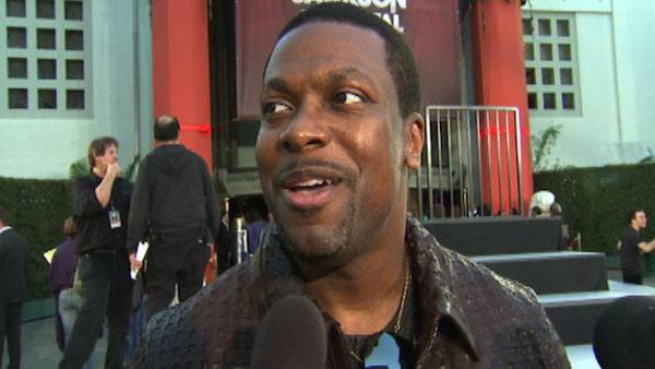 Chris Tucker talks to OnTheRedCarpet.com at Michael Jackson's hand and footprint ceremony at the Grauman's Chinese Theatre on Jan. 26, 2012.