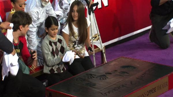 Michael Jackson's children Prince (left), Blanket (midd