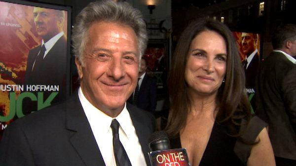 Dustin Hoffman and his wife talk to OnTheRedCarpet.com at the premiere of HBO's 'Luck.'