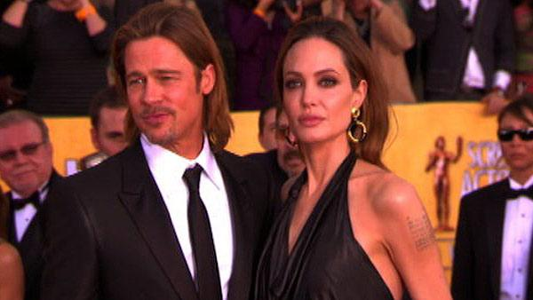 Angelina Jolie, Brad Pitt at 2012 SAG Awards