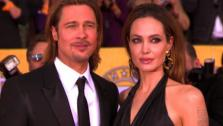 Angelian Jolie and Brad Pitt pose at the Screen Actors Guild Awards in Los Angeles on Jan. 29, 2012. - Provided courtesy of OTRC
