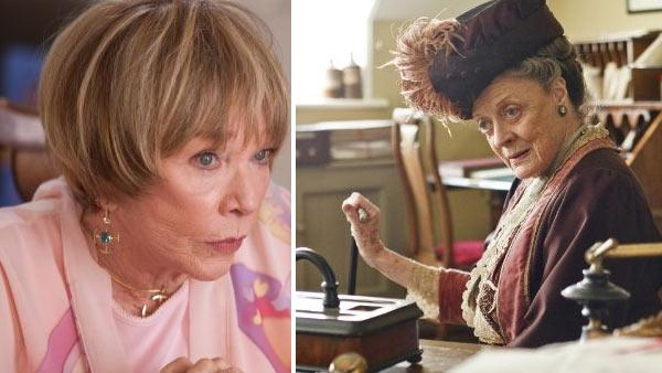 Shirley MacLaine appears in a scene from the 2010 film Valentines Day. / Maggie Smith appears in a scene from the mini-series Downton Abbey. - Provided courtesy of Ron Batzdorff / MMIX New Line Productions / Carnival Films / ITV