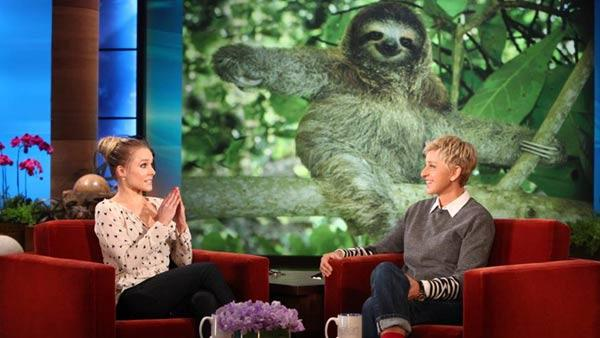 Kristen Bell appears on The Ellen DeGeneres Show that aired on January 31. - Provided courtesy of Warner Bros. Television