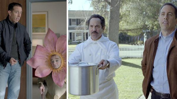 Jerry Seinfeld and Michael J. Anderson appear in Acuras Transactions ad in January 2012. / Jerry Seinfeld and Soup Nazi star Larry Thomas appear in Acuras Transactions ad in January 2012. - Provided courtesy of Acura / youtube.com/user/Acura / youtu.be/WUFSHzT2xuY