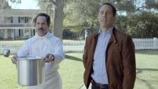 Jerry Seinfeld and Soup Nazi star Larry Thomas appear in Acuras Transactions ad in January 2012. - Provided courtesy of Acura / youtube.com/user/Acura / youtu.be/WUFSHzT2xuY