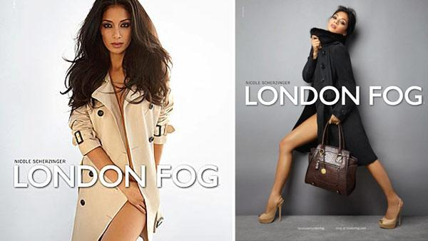 Nicole Scherzinger appears in a 2012 ad for London Fog. - Provided courtesy of London Fog / Iconix Brand Group