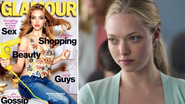 Amanda Seyfried appears on the March 2012 cover of Glamour magazine. / Amanda Seyfried appears in a still from HBOs Big Love. - Provided courtesy of Conde Nast Publications / Glamour / HBO