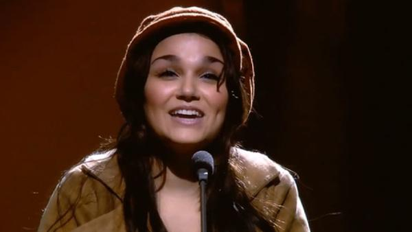 Samantha Barks appears as Eponine in the Les Miserables 25th Anniversary Concert at the O2 Arena. The special was released as a DVD in 2011. - Provided courtesy of Universal Pictures / Steam Motion and Sound